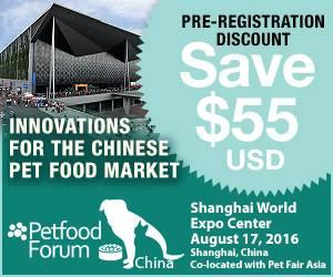 Petfood Forum China 2016 Pre-register now for big savings