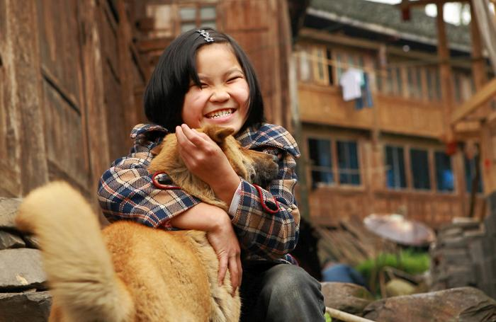 Girl-china-dog