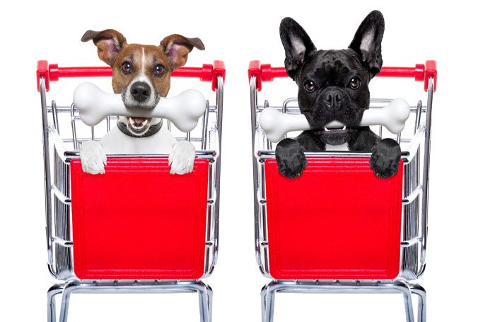 Walmart, grocery store pet meals buyers pamper pets much less