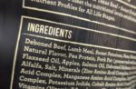 pet food ingredient label