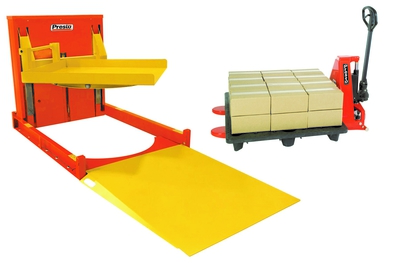 Presto-ECOA-Lifts-P4-Roll-On-Leveler-with-Turntable