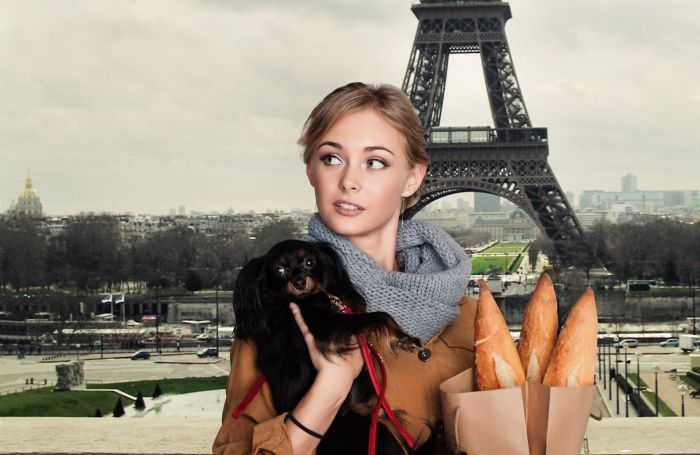 Dog-woman-france-europe-eiffel-paris