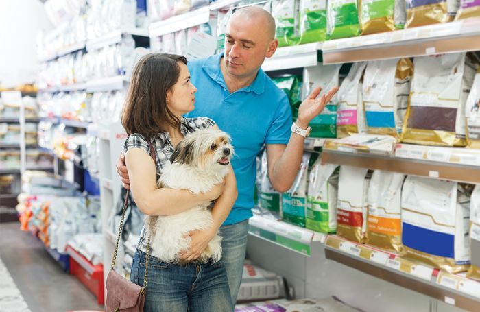 Cats and canine as grocery store pet meals influencers
