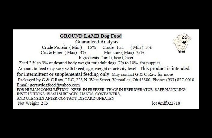 G & C Uncooked remembers uncooked canine and cat meals for Listeria
