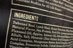 pet food ingredients list