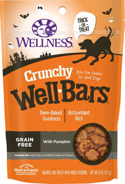 WellPet-LLC-Wellness-Crunchy-WellBars-Halloween-Pumpkin-Grain-Free-Dog-Treats