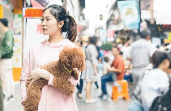 Chinese-woman-with-dog