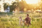 Rural-pet-owner-with-pet