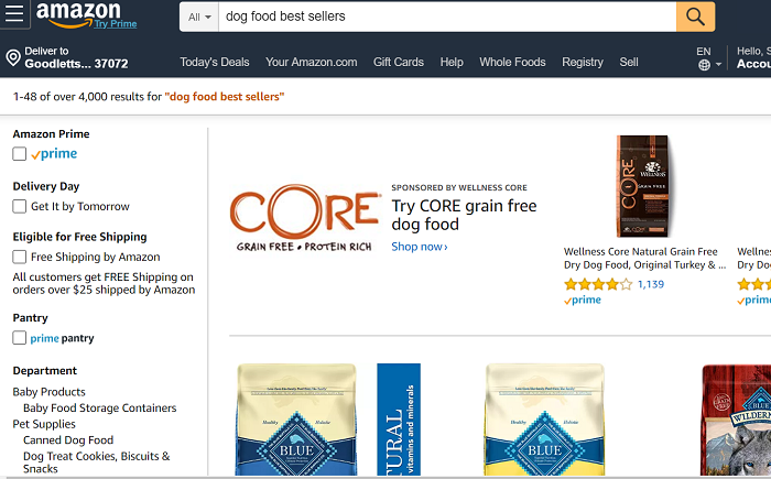 Amazon-dog-food