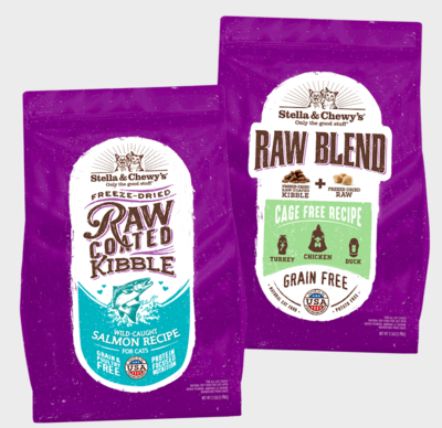 Stella-&-Chewy's-Raw-Coated-and-Blend-Kibbles