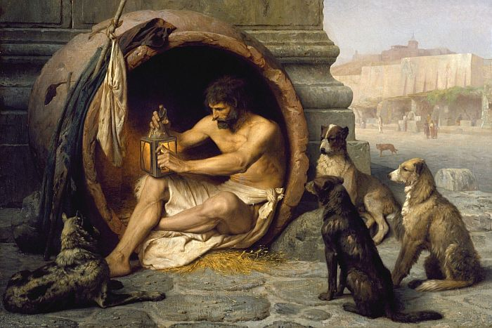 Diogenes-sitting-in-his-tub-by-jean-lon-grme