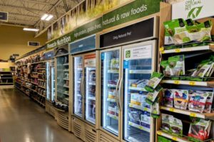 refrigerated pet food section