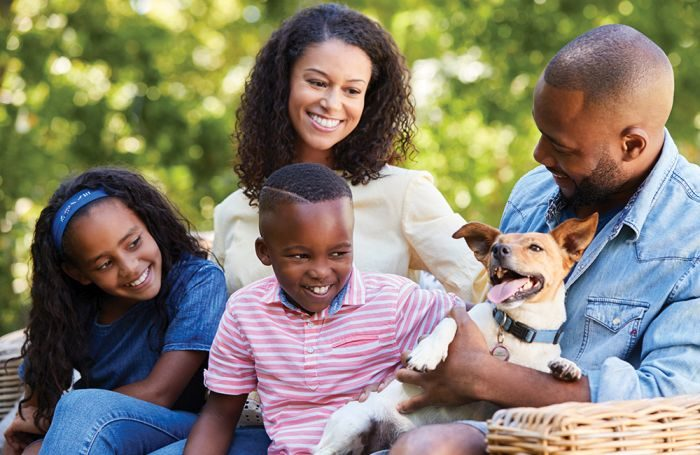 Family-with-adopted-pet