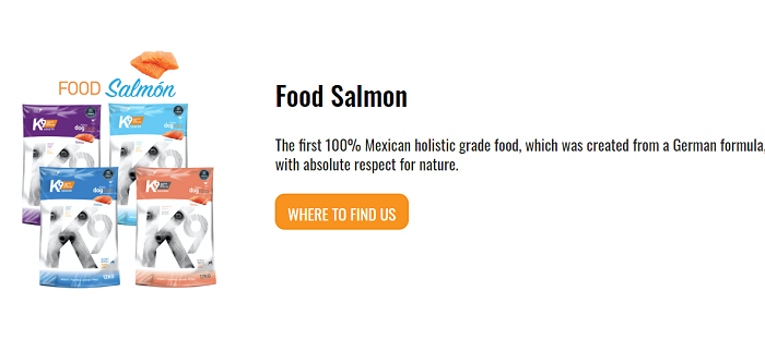 K9 master nutrition salmon dog food