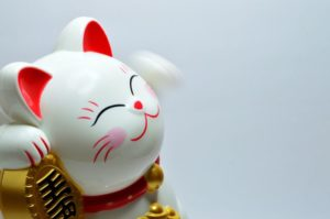 Lucky cat figurine from Asia