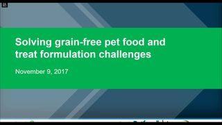 Solving grain-free pet food and treat formulation challenges