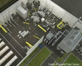 Aerial layout of a petfood safety plant