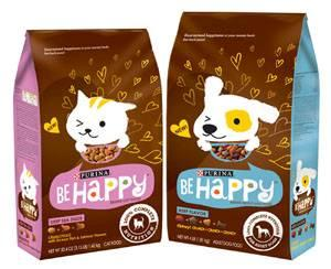 nestle purina debuts be happy dog cat food line
