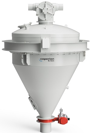 Figure 3: Coperion K-Tron Scale Hopper with Aeropass Valve at top