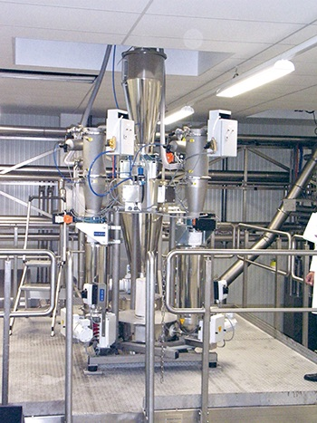 Figure 4: A Coperion K-Tron gain-in-weight batching system in a food application